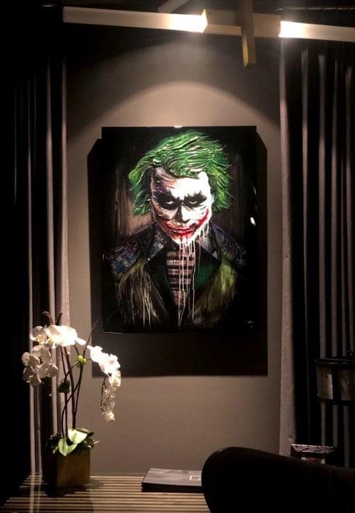 Paintings by Nickhartist seen at Private Residence, Dallas - Joker Dark Knight