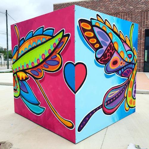 Street Murals by Mario E. Figueroa, Jr. (GONZO247) seen at BakerRipley Central, Houston - Mural