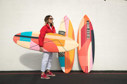 Art & Wall Decor by Erin Miller Wray seen at Costa Mesa, Costa Mesa - Hand-painted surfboards