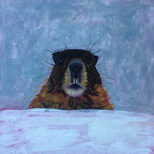 Paintings by Alli van Gruen Art seen at Vancouver, Vancouver - Marmot
