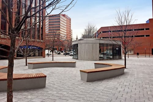 Benches & Ottomans by Factory Furniture - United States seen at Canal Plaza, Portland - bespoke curved bench tops