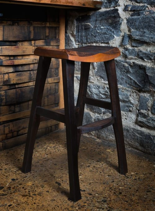 Chairs by Brian Boggs Chairmakers seen at Smoky Park Supper Club, Asheville - RAD bar stool
