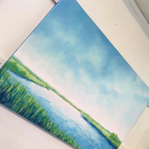 Paintings by Cameron Schmitz seen at Private Residence, Darien - Commissioned Painting