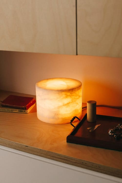 Lamps by Siete Formas seen at Private Residence, Madrid - Alabaster Lamp