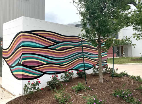 Murals by Jason Eatherly seen at East Austin Hotel, Austin - Waller Creek Flow
