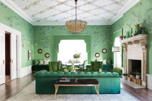 Wall Treatments by Caroline Lizarraga seen at Private Residence, San Francisco - Gilded Ceiling