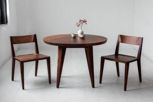 Chairs by Studio Moe seen at Creator's Studio, Portland - Oslo Dining Chair in Oregon Black Walnut