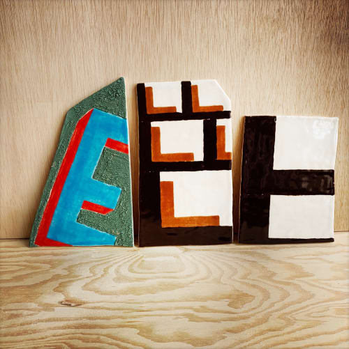 Tiles by Michelle Weinberg seen at New York, NY  Studio, New York - Typology tiles, handmade, one-of-a-kind, artist production