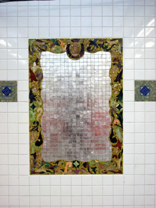 Public Mosaics by Luisa Caldwell seen at East 180th Street, The Bronx - Station Villa