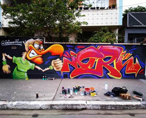 Street Murals by iori graffiti seen at Rio de Janeiro, Rio de Janeiro - Iori Graffiti Mural