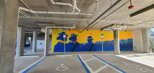 Murals by Keith Doles seen at Lofts at Brooklyn, Jacksonville - Buffalo Soldiers