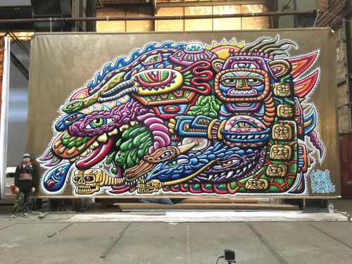 Street Murals by Chris Dyer seen at Amsterdam, The Netherlands, Amsterdam - Shamanic Journey