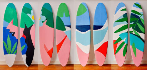 Paintings by Shawna X seen at W Fort Lauderdale, Fort Lauderdale - Surfboard for the W Hotel
