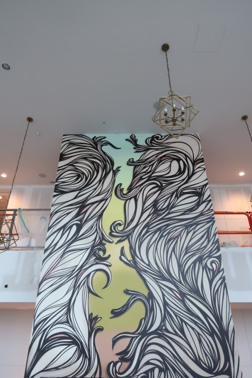 Murals by Nathan Brown seen at 505 Tower, Nashville - 505 Tower mural