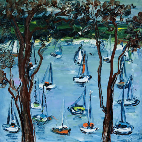 Paintings by Nada Herman seen at Private Residence, Avalon Beach - Yachts