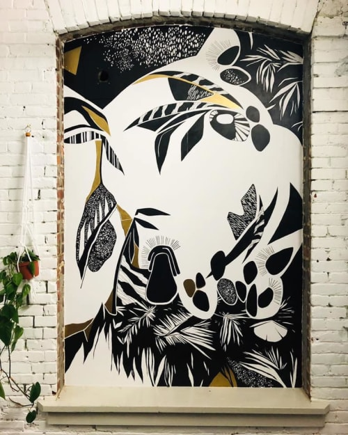 Murals by Emily Kepulis seen at 6635 N Baltimore Ave, Portland - Honeymoon Collective Mural