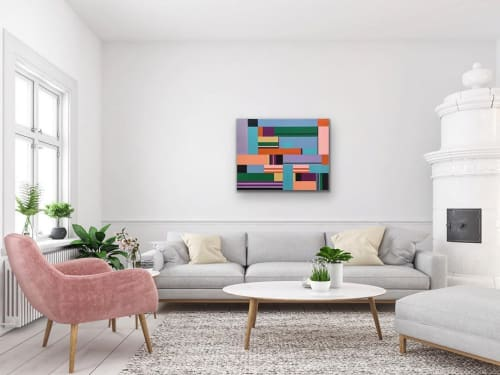Paintings by Dale Weiss Art seen at Private Residence, Santa Monica - Pastel Intersections