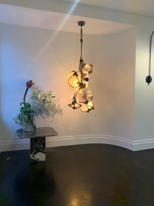 Chandeliers by Lindsey Adelman seen at Roll & Hill, New York - Knotty Bubbles