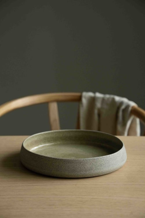 """Ceramic Plates by Creating Comfort Lab seen at Private Residence, Miami - HANDMADE STONEWARE DINNER SET """"CONCRETE"""""""