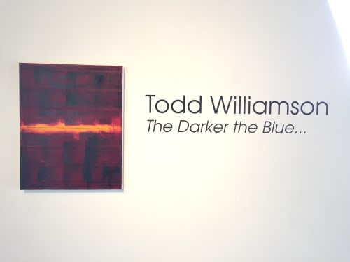 Paintings by Todd Williamson contemporary artist at Nicole Longnecker Gallery, Houston - The Deeper the Blue