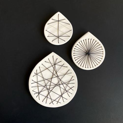 Art & Wall Decor by Elizabeth Prince Ceramics seen at Creator's Studio, Manchester - OOAK Abstract Geometric Wall Art - Set Of 3