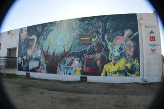 Murals by Dirk Guidry Art Studios seen at CrossFit Acadiana, Lafayette - Deep Rooted
