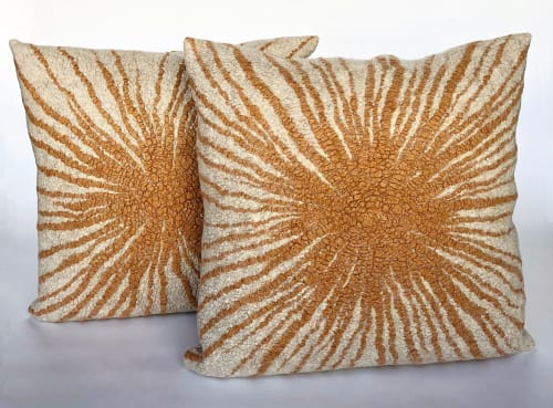 Pillows by Fog & Fury seen at Private Residence, Los Altos - Flare pillow