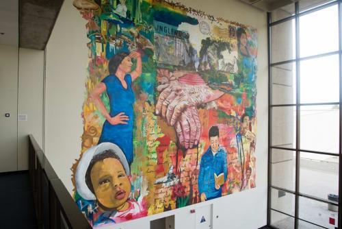 Murals by Michael Massenburg at Inglewood Public Library, Inglewood - Inglewood Stories