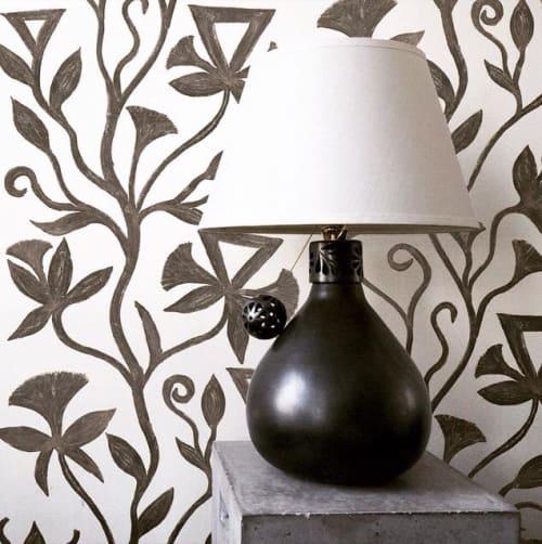 Wallpaper by l'aviva home seen at Private Residence, Seattle - Khovar Collection, Vine Wallpaper