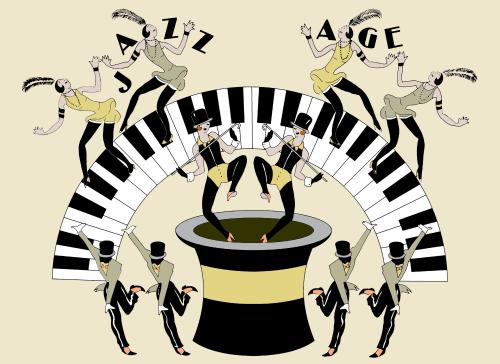 Wallpaper by ART DECOR DESIGNS seen at London, London - Art Deco Jazz Age
