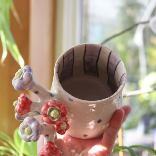 Cups by Momoko Usami seen at Private Residence, Portland - Flower Handle Mug