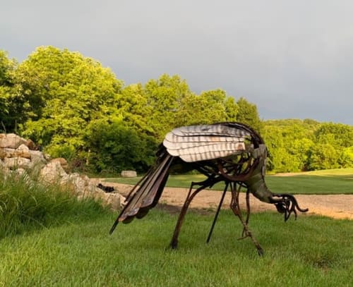 Public Sculptures by Wendy Klemperer Art Inc seen at St. Louis University Henry Lay Sculpture Park, Louisiana - Wild Turkey Sculptures