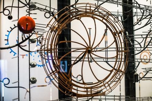 Sculptures by Creative Machines seen at Le Pass Parc d'aventures scientifiques et de société, Frameries - Le Reve de Newton