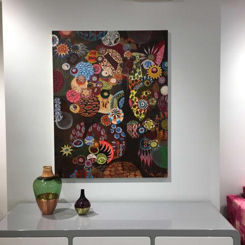 Paintings by Melinda Hackett seen at New York, New York - 'devil dog'