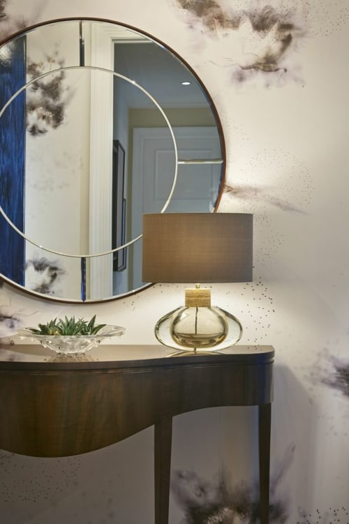 Wallpaper by Holly Hunt seen at The Ritz-Carlton Residences, Chicago, Chicago - Wallcovering