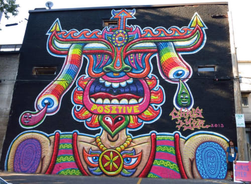 Street Murals by Chris Dyer seen at Montreal, Quebec, Canada, Montreal - Positive Portal