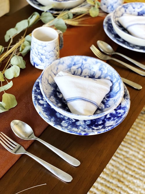Tableware by Stone + Sparrow seen at Private Residence, Pittsburgh - New Amsterdam dinner set