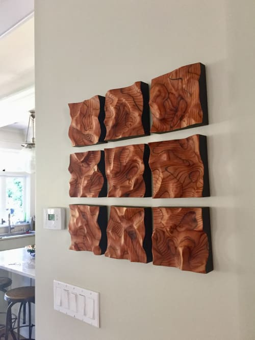 Sculptures by Lutz Hornischer seen at Private Residence, Berkeley - Abstract Wall Art