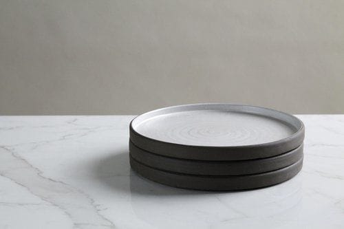 Ceramic Plates by Jono Pandolfi seen at Dream Nashville Hotel, Nashville - Square Sided Dinner Plate