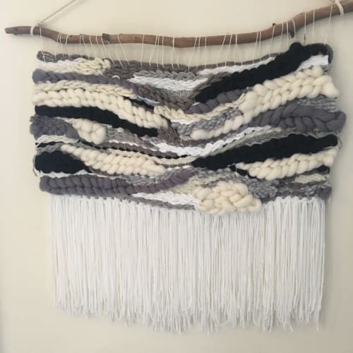 Wall Hangings by Fringe Lily Creations seen at Creator's Studio, Melbourne - Stormy Scandanavian Skies