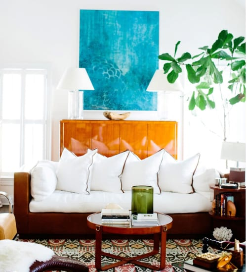 Paintings by Artstar Custom Paintworks seen at Private Residence, Baltimore - Blossoming Through the Blue