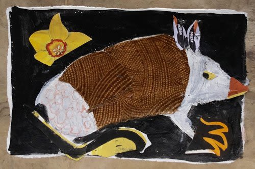 Armadillo (New)   Wall Hangings by Pam (Pamela) Smilow