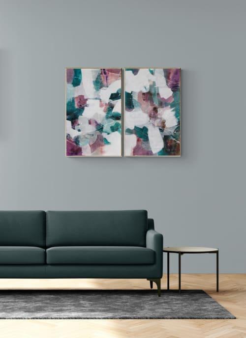 Paintings by Simona Gocan seen at Creator's Studio, Goodyear - Dynamic Rhythm (Diptych)