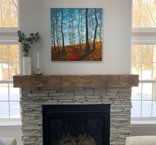 """Paintings by Kristin Pierre Art seen at Private Residence, Chagrin Falls - """"Autumn Colors"""""""