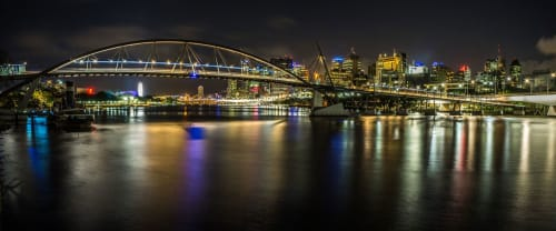 Lighting Design by Rodrigo Roveratti seen at Goodwill Bridge, Brisbane City - Goodwill Bridge Project