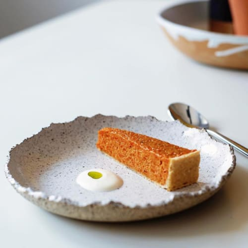 Ceramic Plates by Twin Earth Ceramics seen at Club Epicure, Winchester - Cookies n' Cream Side Plate