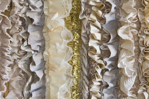 Wall Hangings by Waste Textiles Artist Femke van Gemert seen at Private Residence, Hoorn - Calcification