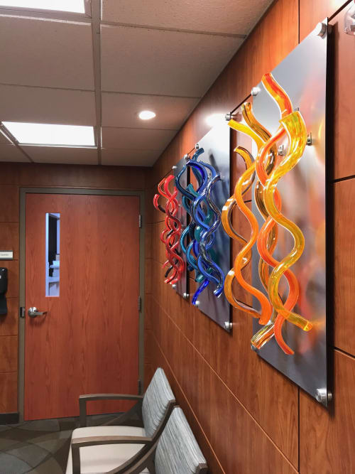"Wall Treatments by Chris Nordin Studios seen at St. Joseph Mercy Oakland, Pontiac - ""Healing Waves"""