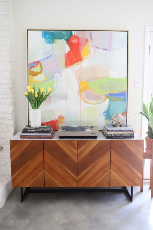 """Paintings by Erin Donahue Tice Fine Art seen at Private Residence, Austin - """"Rainbow Popsicle"""""""