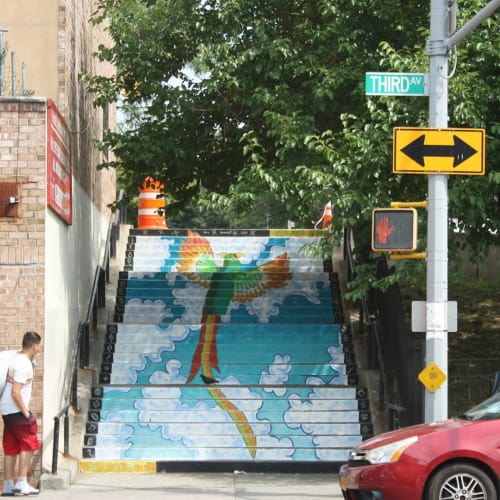 Street Murals by Josie Gonzalez seen at Third Avenue, Bronx - Rise Up